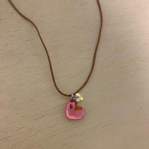 Swarovski- Pink Crystal Heart Necklace